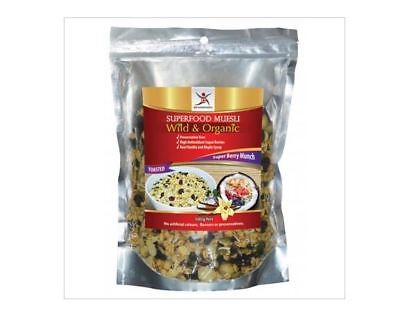 3 x 500g DR SUPERFOODS Superfood Muesli Super Berry Munch - Toasted ( 1.5kg )