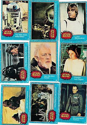 1977 Star Wars Series 1 Blue Series 2 Yellow Trading Cards Sold Individually