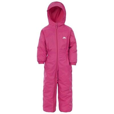 Trespass Girls All In One Padded Waterproof Snow Suit Puddle Rainsuit Toddler