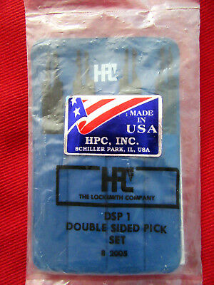 HPC DSP-1 Double Sided Disc Tumbler Lock Pick Set New