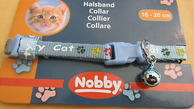 collier CHAT bleu CHATON CHAT TOUR DE COU DE 16 à 20 CMS