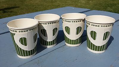 Vintage NOS Lot Of 4 John Deere Paper Drinking Cups Glasses
