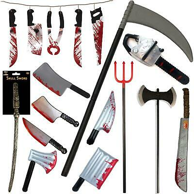 Halloween Plastic Weapons Horror Tools Toys Bloody Knife Sickle Grim Reaper Sets