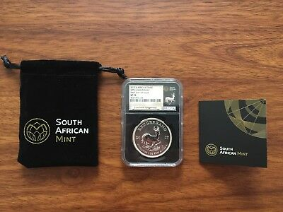2017 South Africa Silver Krugerrand NGC SP70 FIRST DAY OF ISSUE