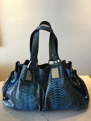 0d966028a4cf New Authentic Michael Kors Collection Python Snake Rehearsal Satchel Handbag