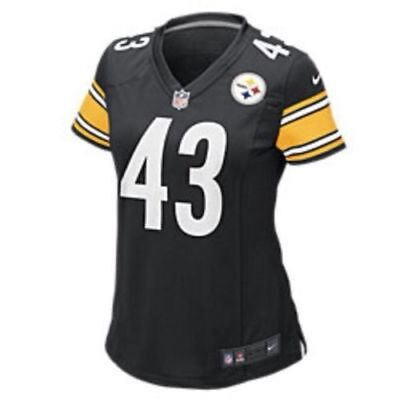 Nike Womens Steelers Troy Polamalu On Field Game Day Jersey M 469913 012 $100