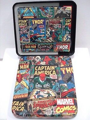 Marvel Comics Wallet Bifold Iron Spider Man Thor Captain America New w Gift Box