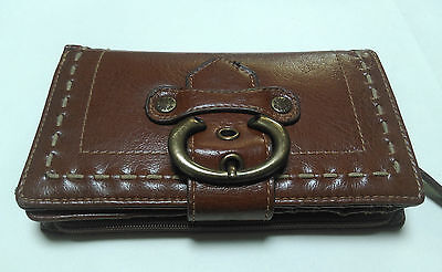 Vintage Milleni tan leather womens wallet purse
