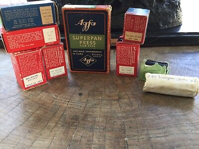 9 Rolls Of Unused Vintage And Antique Film GAF Agfa  And Ansco