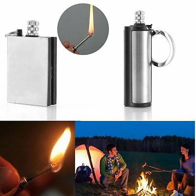 5pcs Stainless Steel Permanent Matches Flint Fire Starter Survial Tool Keyring