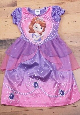 Disney Sofia THE FIRST Kids Girls SIZE 3T DRESS Pajama Nightgown Purple COSTUME