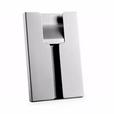 Case Pocket Thumb Stainless Metal Business Name Card Business Card Case Holder