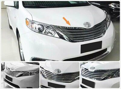For Toyota Sienna 2013-2017 Chrome ABS Front Grill Grille Hood Cover Trim -5PCS
