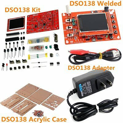 "DSO138 2.4"" TFT Digital Oscilloscope Acrylic Case DIY Kit SMD Soldered Adater DY"