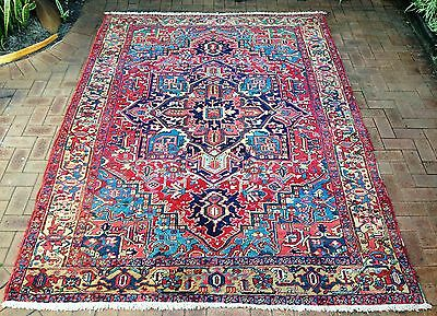 Persian Tabriz Heriz Authentic Hand-Knotted Collectable Rug