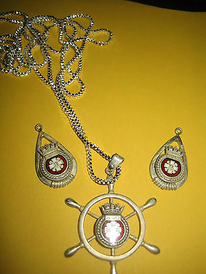 ww2 silver set super rare  only one set made  gift set from HMCS STETTLER 1943