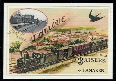 LANAKEN ....  TRAIN...  souvenir creation moderne serie numerotee
