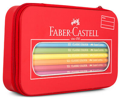Faber Castell Coloured Pencils in Classic Zip Tin - 18 Piece