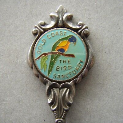 The Bird Sanctuary Gold Coast Stuart Silverplated Souvenir Spoon Teaspoon (T95)