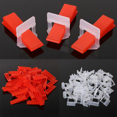 200 Tile Leveling System =100 Clips/100 Wedges Plastic Spacers Tiling Tools