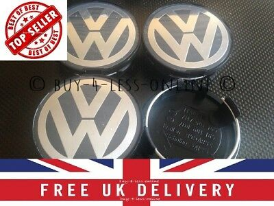 VW Alloy Wheel Center Caps 63mm x 4 . OEM . 7D0 601 165. 63mm VW Wheel Caps. UK
