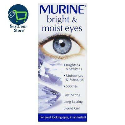 Murine Bright & Moist 15ml Brightens and Whitens Eye Drops FAST FREE DELIVERY