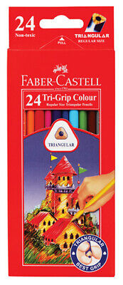 Faber Castell Tri Grip Coloured Pencils - 24 Pack