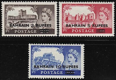 1955-60 BAHRAIN - SG 94/96  Castles set of 3  MNH/**