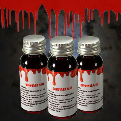 Faux Sang Halloween Horreur Fake Blood Vampire Zombie Théâtre Costume Maquillage