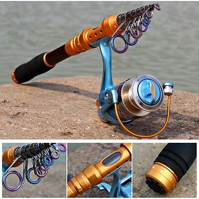 Fishing Rod Set Telescopic Rod with 12BB Metal Reel Combo Fishing Tackle Pesca
