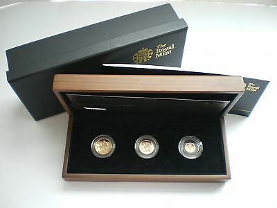 Royal Mint UK 2013 Gold Proof Sovereign 3 Coin Set