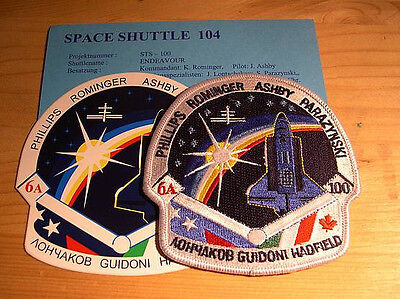 Missionsembleme Space Shuttle STS-100