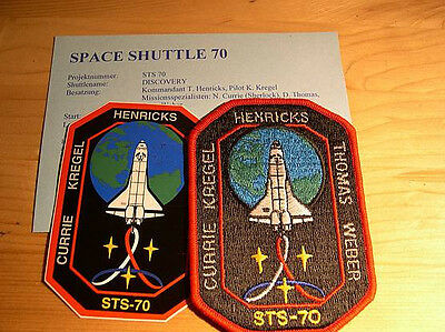 Missionsembleme Space Shuttle STS-70