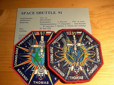 Missionsembleme Space Shuttle STS-91