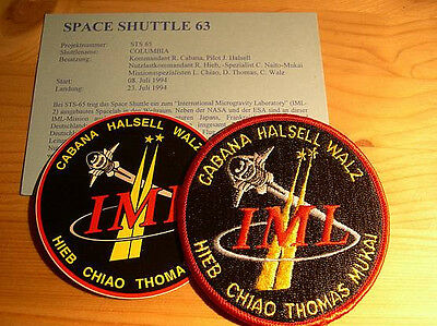 Missionsembleme Space Shuttle STS-65