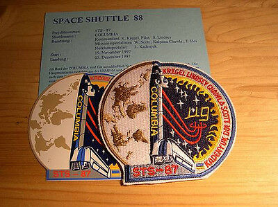 Missionsembleme Space Shuttle STS-87