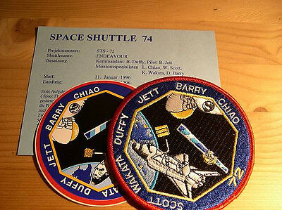 Missionsembleme Space Shuttle STS-72