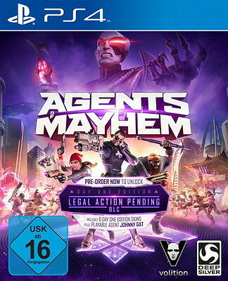 Agents of Mayhem: Day One Edition Ps4 - Neu OVP - Blitzversand