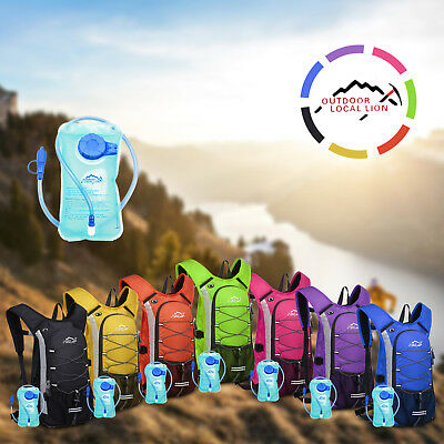 2 Litre Hydration Pack Water Backpack Running Cycling Hiking Jogging Bladder Bag