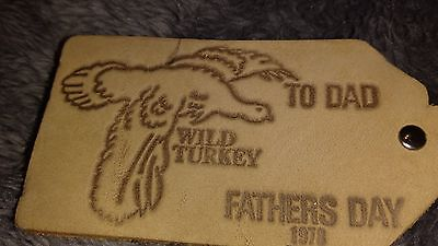 Wild Turkey Bourbon Whiskey Leather Key Rings To Dad Fathers Day 1978