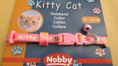 collier CHAT ROSE CHATON CHAT TOUR DE COU DE 16 à 20 CMS