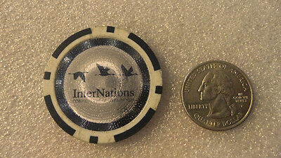 Vintage Inter Nations large blue/white chip