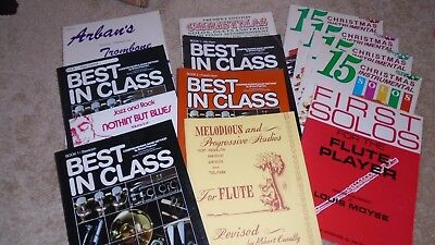 Lot of Eighteen 13 Vintage Instructional Music Lesson Books Best In Class Arbans
