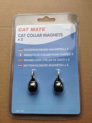 Cat Mate Spare Collar Magnets x 2 - For Magnetic Cat Flap