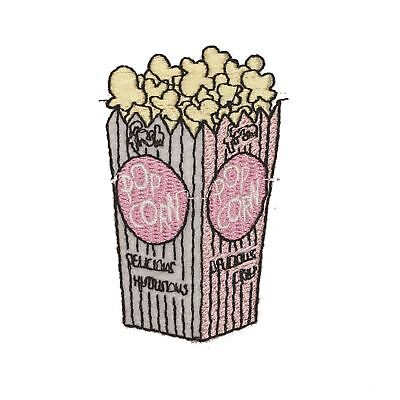 Pink Popcorn Medium (Iron on) Embroidery Applique Patch Sew Iron Badge