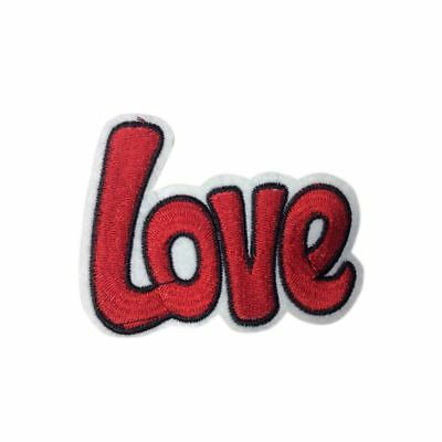 The Red Love (Iron on) Embroidery Applique Patch Sew Iron Badge