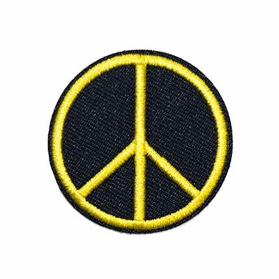 Yellow Peace (Iron on) Embroidery Applique Patch Sew Iron Badge
