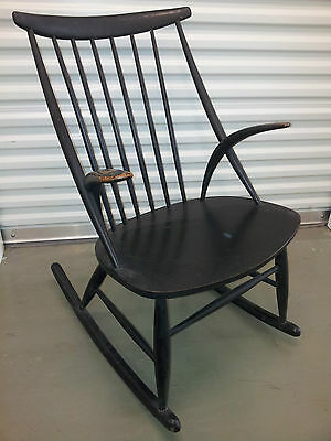 Danish Mid Century Illum Wikkelso Rocking Chair