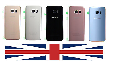 New Samsung Galaxy S7 G930F / S7 Edge G935F Back Rear Glass Battery Door Cover