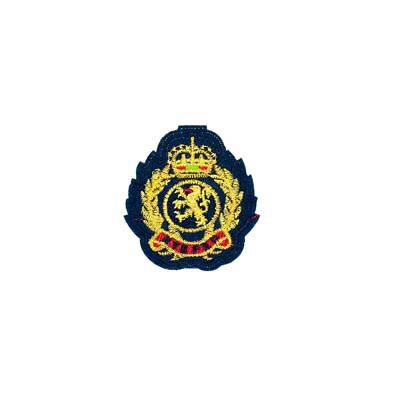 Blue King Shield Badge (Sew on) Embroidery Applique Patch Sew Iron Badge
